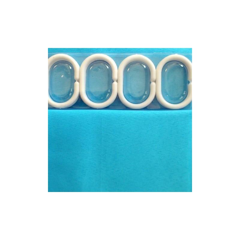 Cortinas de ba o teflon for Anillas plastico para cortinas