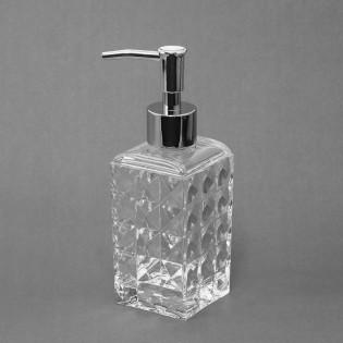 Dispenser de Jabón Líquido Dulav Modelo Rombos de Acrilico.
