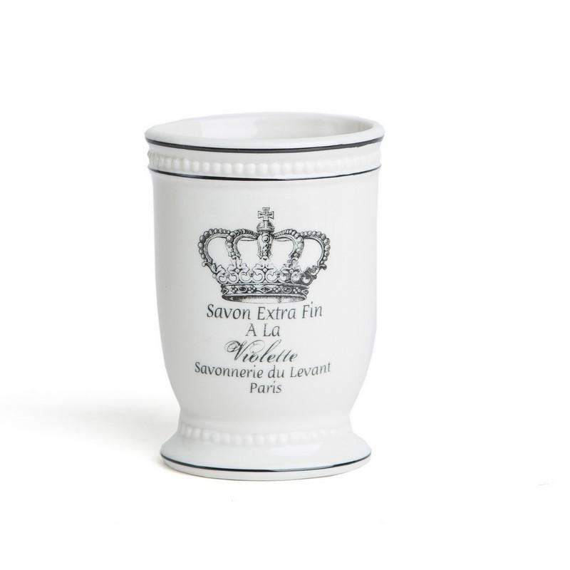 Accesorios De Baño Corona:Vaso de Baño Dulav Modelo Arte Corona en Ceramica