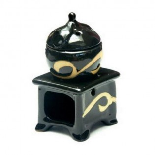 Hornillo Ruwadama Horno Negro con Tetera de Ceramica.