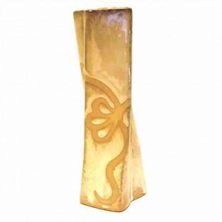 Florero Ruwadama Diseño Doblado Fino de Ceramica.