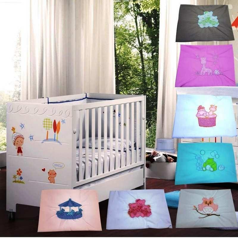 juego de sabanas infantil royal crest bordada para cuna funcional con funda de almohada