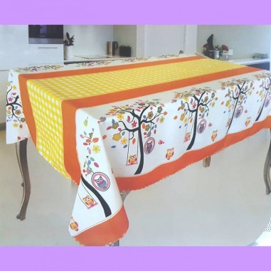Mantel GAE Rectangular 250 cm Estampado Tropical Lavable en 100% Poliester.