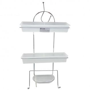 Porta Articulos JAB de Baño 2 Pisos con amplios estantes de Plastico.
