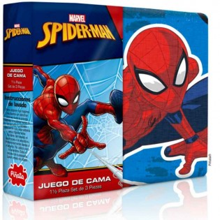 Juego de Sabanas Piñata Disney para 1 y Media Plaza con 1 Funda de Almohada en Algodón y Poliester.