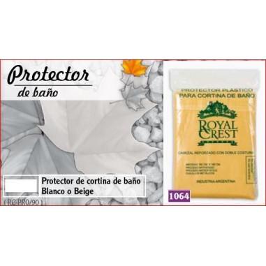 Protector para Cortina de BañoRoyal Crest Antialérgico Funcional de uso Universal de 90 Micronesen 100% Poliester y PVC.