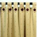 Cortina de Ambiente DG Madras con Botón y de 2 Paños con Presillas en Algodón y Poliester.