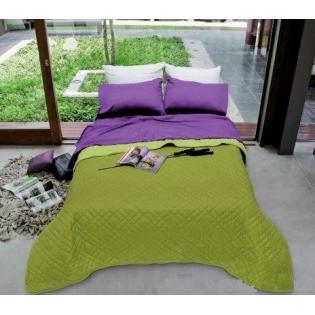 Cover Despertares Liso Reversible para 2 y Media Plaza en Poliester y Acrilico.