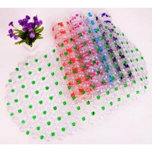 Alfombra de Baño Antideslizante Perlas, 100% PVC. Medida: 40 x 60 cm.