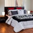 Acolchado Zyporah Estampado Premium para King Size Alta Calidad, Densidad y Terminación en Algodón y Poliester.