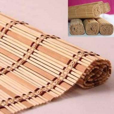 Set de 4 Individuales IK de Bambú Unido con Hilo de Algodón a Contratono Excelente Calidad.